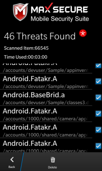 Max bb10 Security